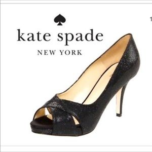 Kate Spade ♠️ Billie Glitter Lame ♠️ Peep Toe Pump